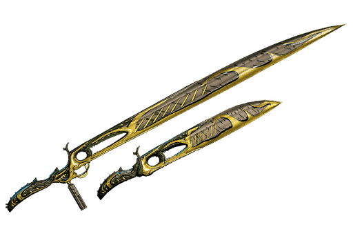 Dual Heat Swords Forest-Camo Skin